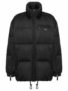 Prada gabardine puffer jacket - Black