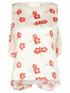 Bernadette draped floral blouse - PINK