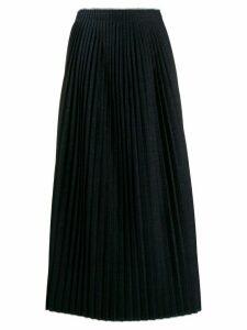 Mm6 Maison Margiela long pleated knitted skirt - Blue