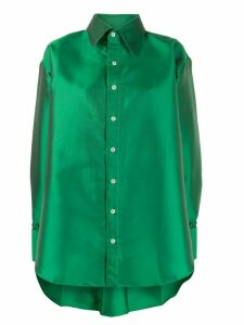 Matthew Adams Dolan oversized satin-twill shirt - Green