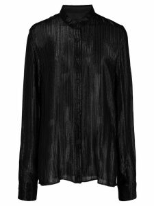 RtA pleated shimmer shirt - Black