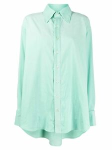 Matthew Adams Dolan oversized corduroy shirt - Green
