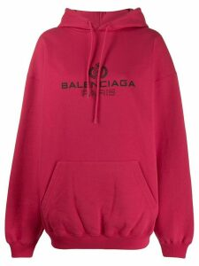 Balenciaga logo hoodie - Red