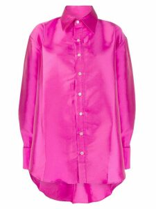 Matthew Adams Dolan oversized satin-twill shirt - Pink