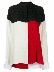 Haider Ackermann polka dot color-block shirt - White
