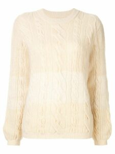 Coohem cable knit jumper - White