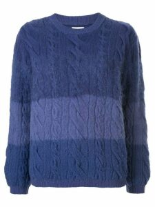 Coohem cable knit jumper - Blue