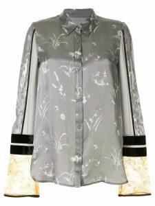 Mame Kurogouchi floral print shirt - Grey