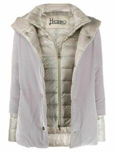 Herno contrast padded jacket - Grey