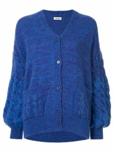 Coohem mohair cable knit cardigan - Blue