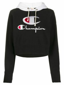 Champion logo cropped hoodie - Black