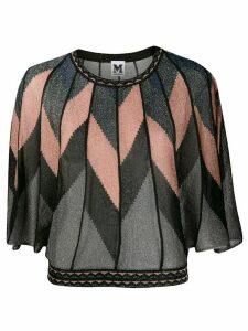 M Missoni geometric paneled top - Black