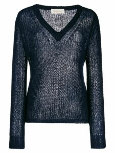 Chiara Bertani v-neck jumper - Blue