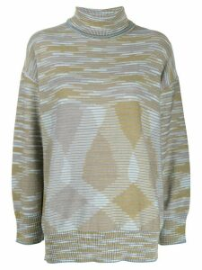 M Missoni intarsia knit jumper - Blue