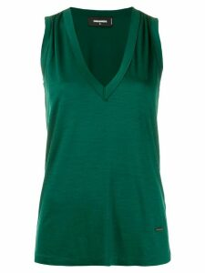 Dsquared2 gathered details tank top - Green