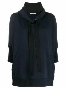 Dorothee Schumacher cropped sleeve sweatshirt - Blue