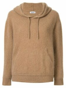 Coohem cashmere knitted hoodie - Brown