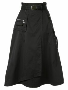 Loveless flared cargo skirt - Black