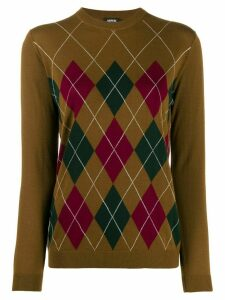 Aspesi Argyle knit jumper - Brown