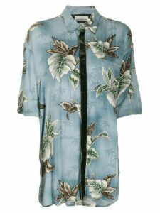 Night Market Hawaii short-sleeve shirt - Blue