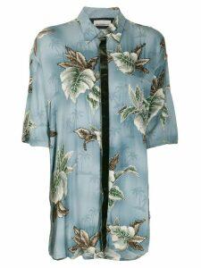 Night Market Hawaii short-sleeve shirt - Blue