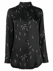 Equipment matchstick print shirt - Black