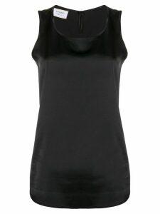 Snobby Sheep sleeveless silk top - Black