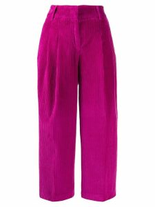 Pt01 velvet corded cropped trousers - PINK