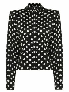 Dolce & Gabbana Paddy pussy-bow polka-dot blouse - Black
