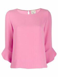 L'Autre Chose ruffle cuff blouse - PINK