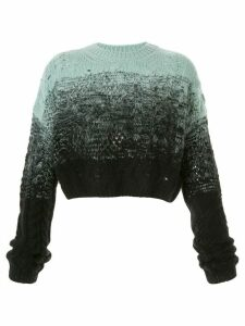 AMIRI ombré cropped oversized jumper - Black