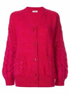 Coohem mohair cable knit cardigan - PINK