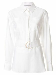 Stella McCartney long-sleeve belted shirt - White