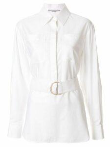 Stella McCartney long-sleeve belted shirt - White