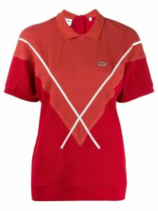 Lacoste cross stripe polo shirt - Red