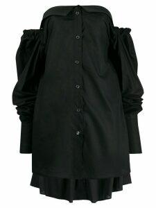 Ann Demeulemeester strapless long-sleeve top - Black