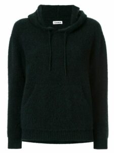 Coohem knitted cashmere hoodie - Black