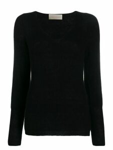 Chiara Bertani ribbed knit jumper - Black