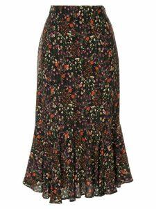 Loveless floral pattern skirt - Black