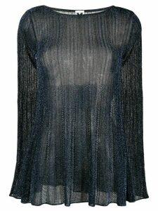 M Missoni transparent knit top - Blue