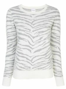 Madeleine Thompson tiger intarsia jumper - White