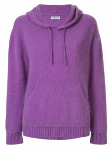 Coohem cashmere knitted hoodie - Purple