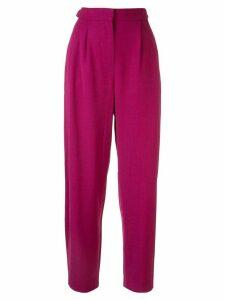 Roksanda high waisted tapered trousers - PURPLE