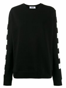 MSGM checkered flag print sweatshirt - Black