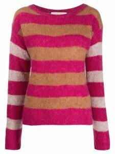 Chiara Bertani striped knit jumper - PINK