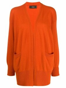 Maison Flaneur oversized cashmere cardigan - ORANGE