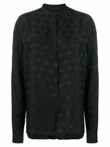 Haider Ackermann mandarin collar polka dot shirt - Black
