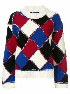 Coohem modern argyle jumper - Multicolour