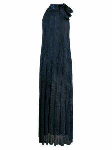 M Missoni halterneck knit maxi dress - Blue