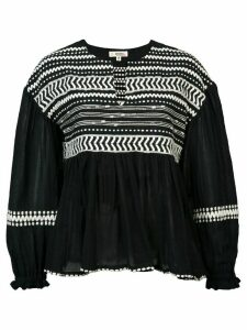 lemlem Maya embroidered blouse - Black